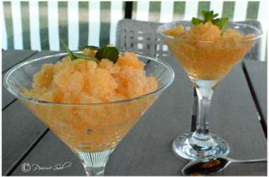 Granité melon menthe