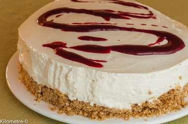 Cheesecake au limoncello et coulis de cassis