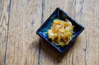 Courgette mijotée à la japonaise