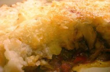 Hachis parmentier au hachis de boeuf à la tomate, mozzarella et parmesan