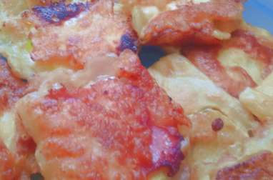 Crêpes - beignets de courgettes à la vache qui Rit ou jambon