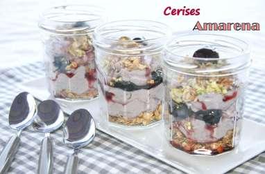 Trifles aux cerises Amarena et pistaches