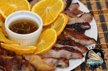 Canard laqué sauce à l'orange