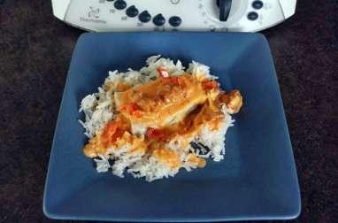 Cabillaud sauce chorizo, tomates, poivrons au thermomix