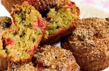 Muffins vegan avocat et groseilles