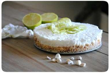 Cheesecake aux citrons vert, noix de coco et cantuccini