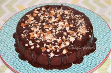 Poke cake double chocolat