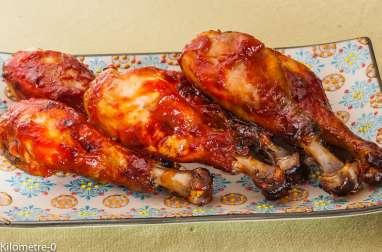 Pilons de poulet sauce barbecue