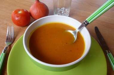 Velouté de potimarron aux tomates grillées