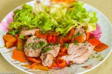 Filet de porc aux poivrons