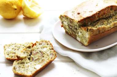 Cake au citron, olive, pavot et feta
