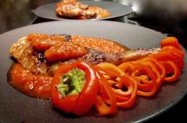 Pintade grillée et la Piperade des Gourmands