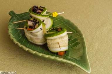 Involtini de moules aux petits légumes d'été