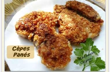 Escalopes de Cèpes Panées