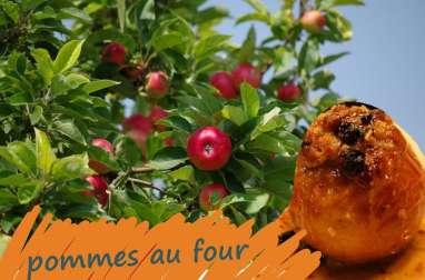Pommes au four fourrées au mascarpone, noix de pécan parfums vanille et cannelle