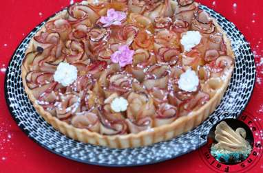 Tarte roses aux pommes