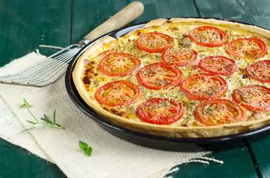 Tarte au thon, aux tomates et à la moutarde