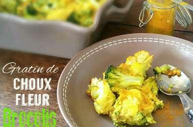 Gratin Choux Fleur - Brocolis au Lait d'amandes et Curcuma