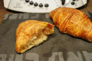 Croissant pur beurre thermomix, recette thermomix gouter
