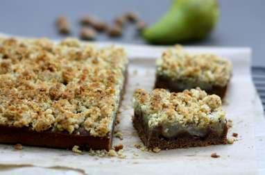 Crumb cake aux poires et Nutella