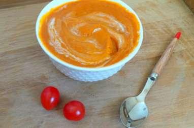 Soupe veloutée de tomates cerises