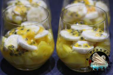Salade mangue banane passion