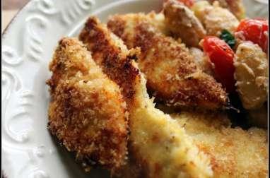 Nuggets de poulet au four , chapelure panko