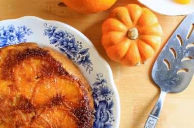 Gâteau renversé orange et potiron