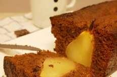 Cake vegan chocolat et poires