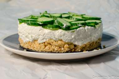 Cheesecake au concombre