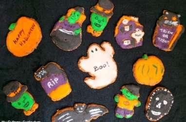 Petits sablés shortbread d'Halloween décorés à la Chicorée Leroux