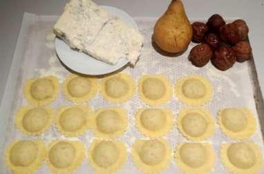 Les mezzelune Poire-Noix-Gorgonzola