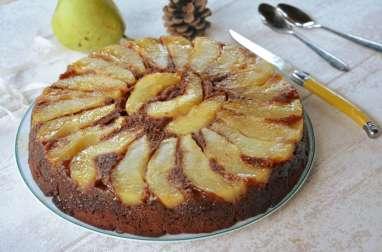 Gâteau renversé poires et chocolat noir