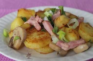 Salade de pommes de terre aux lardons