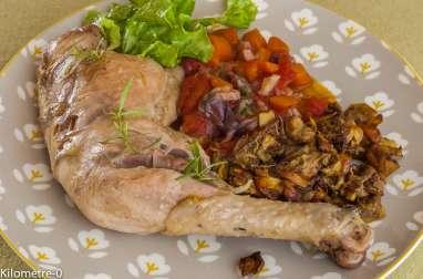 Estouffade de poulet aux cèpes et légumes de saison