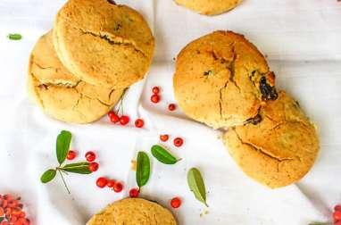 Scones aux cranberries vegan sans gluten
