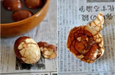 Œufs marbrés au thé et cinq-épices