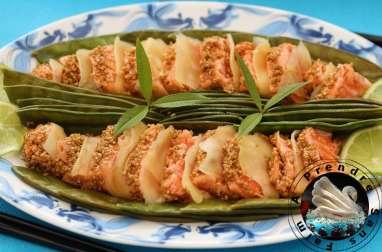 Tataki saumon sésame au gingembre
