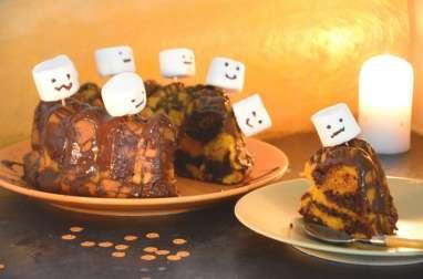 Gâteau d'Halloween facile potiron-chocolat