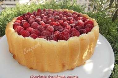 Charlotte framboise-citron