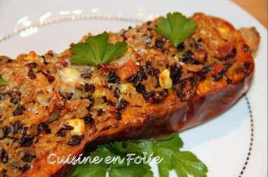 Courge butternut farcie