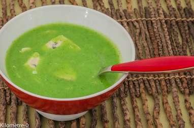 Soupe de courgettes au gorgonzola