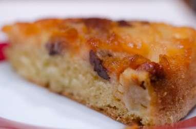 Gâteau renversé aux pommes et aux 2 noix