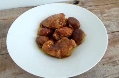 Sauté de porc aux figues et épices à tajine
