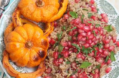 Salade tiède quinoa et jack be little rôti