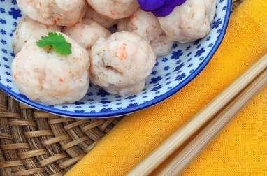 Boulettes de crevette rose à la vapeur
