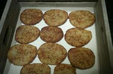 Biscuits aux châtaignes et parmesan
