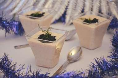 Verrine de mousseline de tarama 100% maison