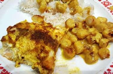 Saumon en papillote aux noix de pétoncles et au curry de Christelle