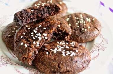 Cookies au cacao et tahini (purée de sésame)